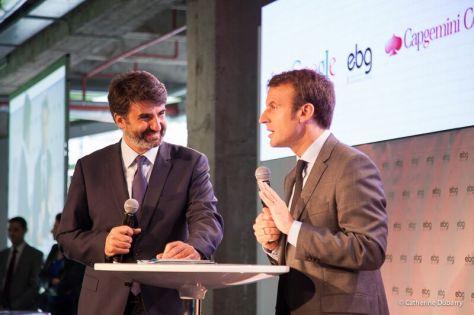 Conférence EBG avec M. Emmanuel Macron Ministre de l'économie. Juin 2015