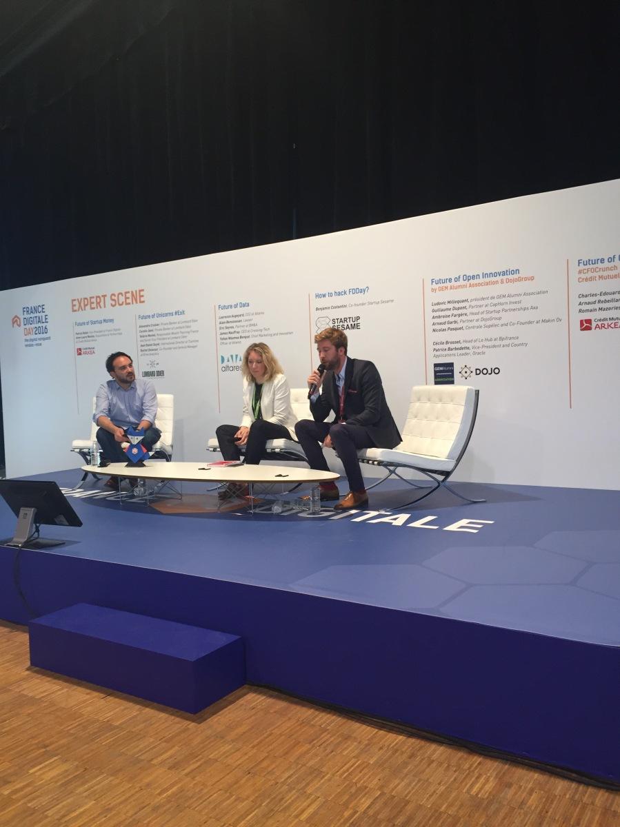 Présentation étude sur la valorisation des startups à France Digitale Day