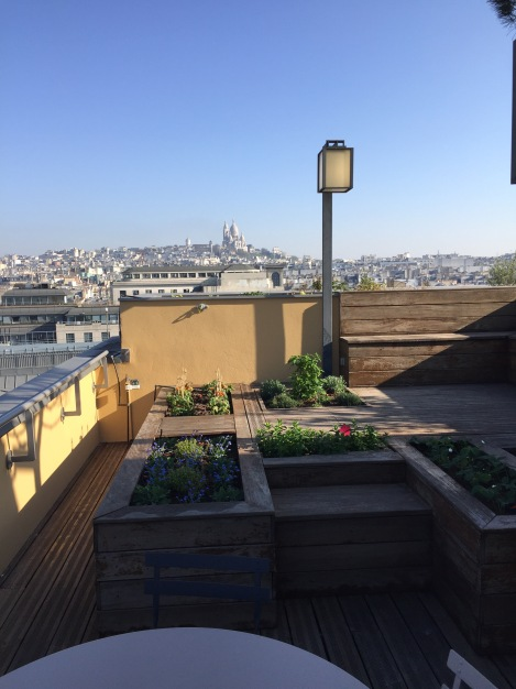La terrasse vue Montmartre
